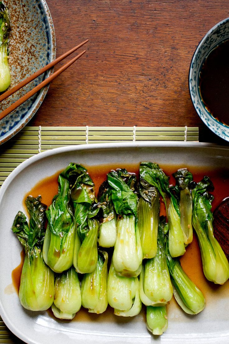 This is among the easiest, most flavorful preparations of greens imaginable, and it pairs beautifully with almost any vaguely Asian roasted meat or fish It is also exceptional on its own, with rice You could swap out the bok choy for broccoli, if that's all you have, or chard, or beet greens.