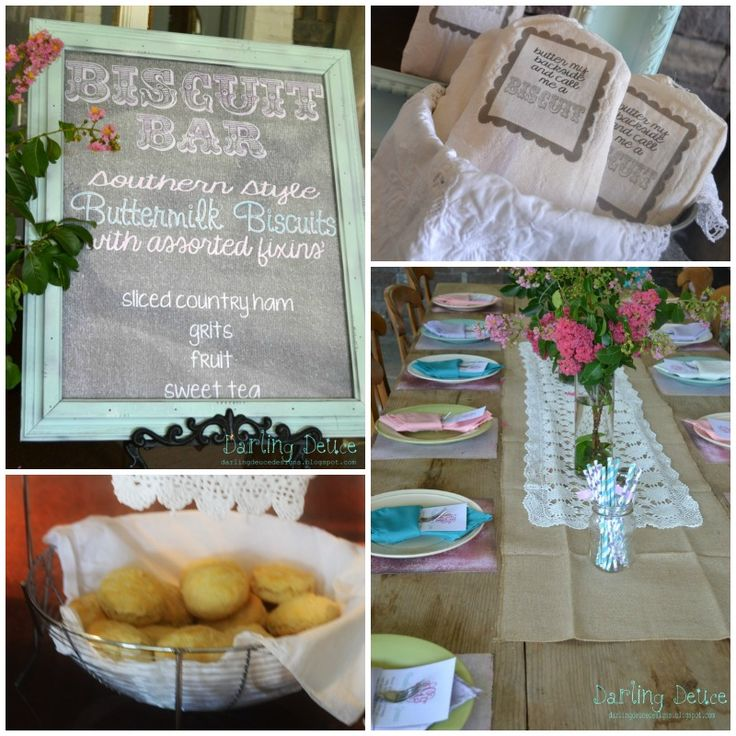Biscuit Bar at Southern Shabby Chic Baby Shower