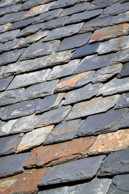 #Slate #roof - an attractive example of multi-tonal slate with a variety of shades running through it.