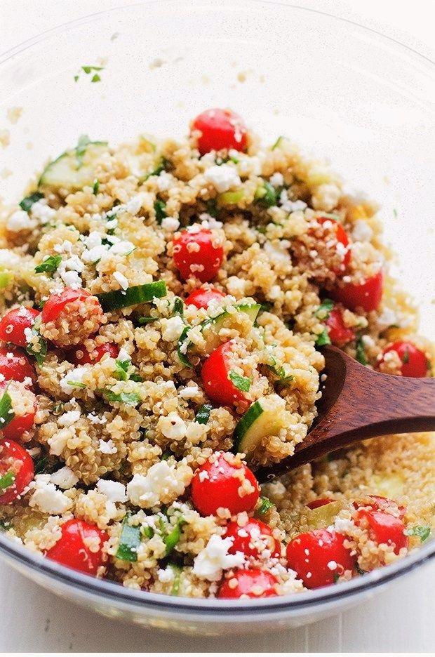 Domates ve Salatalık Kinoa Salatası
