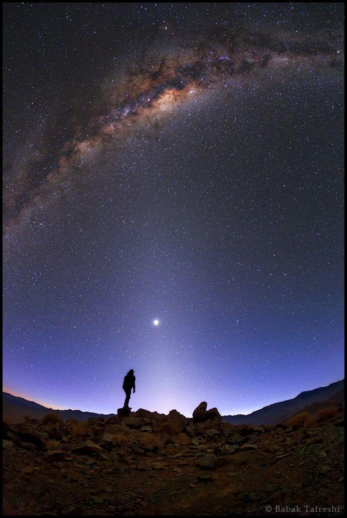 http://www.twanight.org/newTWAN/photos.asp?ID=3004645 The Milky Way, Venus, and zodiacal light above the southern Atacama Desert, Chile.