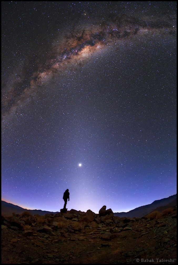 http://www.twanight.org/newTWAN/photos.asp?ID=3004645 The Milky Way, Venus, and zodiacal light above the southern Atacama Desert, Chile.