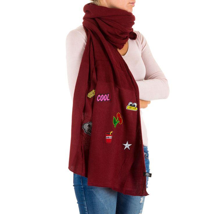 12,99 € - Stylischer Damen Schal mit Applikationen.