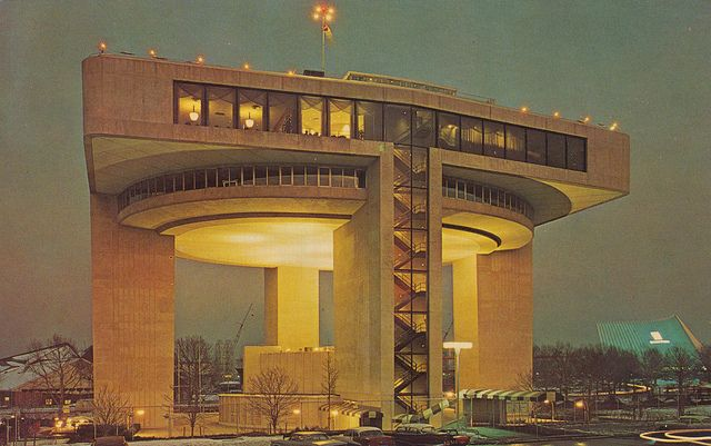 The Port of New York Authority Heliport and Exhibit Building - New York World's Fair 1964-64 #GISSLER #interiordesign