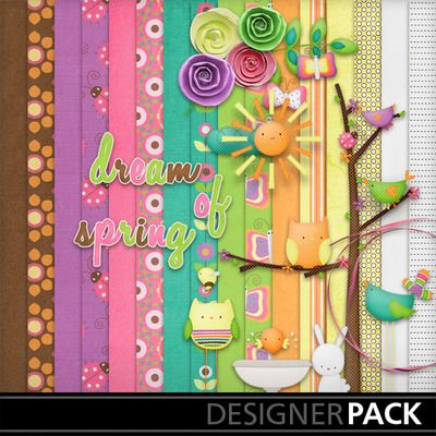 A full kit with 16 digital papers and 199 Page elements