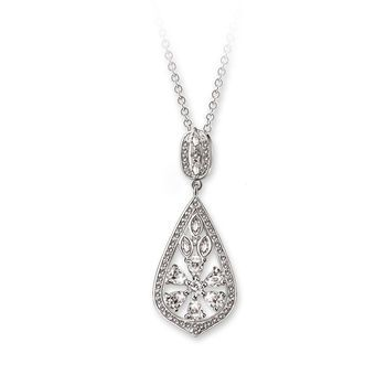 VP0335WH Pendant Clear Stone - Pendants from Newbridge Silverware online Jewellery store Ireland