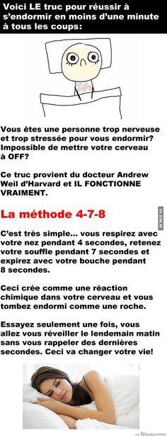 Truc de BOSS pour s'endormir en 1 minute – Québec Meme +