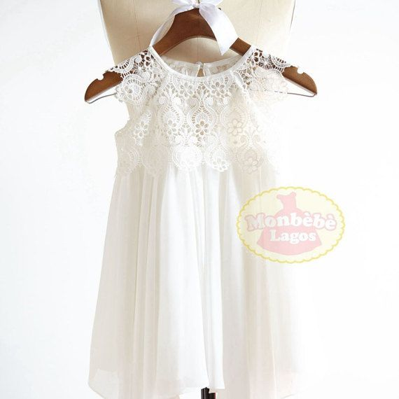 Willkommen bei ˙ MonbebeLagos Handmade Kleid Shop ˙   Das MonbebeLagos Kleid ist ein reiner Handarbeit Kleid mit Spitzenbund und chiffon Rock,