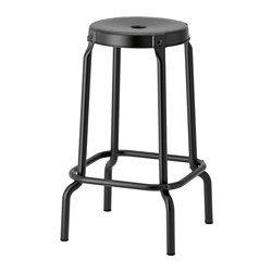 IKEA - RÅSKOG, Barkruk, Makkelijk te verplaatsen door de opening in de zitting.Kunststof doppen beschermen het meubel bij contact met een vochtig oppervlak.Met voetsteun: biedt ondersteuning aan vermoeide voeten.
