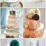 25 Greatest Metallic Wedding Cake Ideas