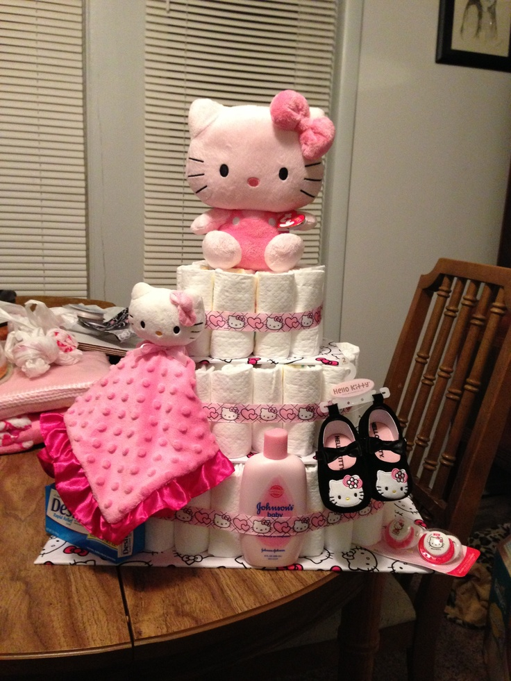 21 Best Images About Hello Kitty Diaper Cakes On Pinterest