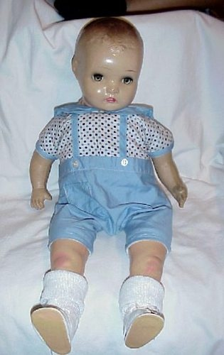 DARLING HORSMAN COMPOSITION & CLOTH BABY DOLL