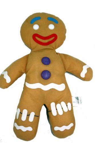 "2006 GINGERBREAD MAN SHREK the THIRD DREAMWORK STUFFED Plush Doll Toy 14"""
