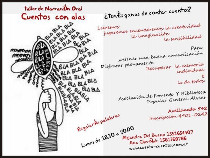 """Taller de Narración Oral """"Cuentos con alas"""" http://www.encuentos.com/cuentos-clasicos/taller-de-narracion-oral-cuentos-con-alas/"""