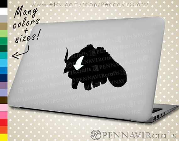 Appa Decal - Avatar the Last Airbender - available in Macbook size! www.PennavirCrafts.com