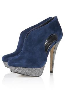 navy shoes_ : SASSY Cut Out V Throat Heels | TopShop