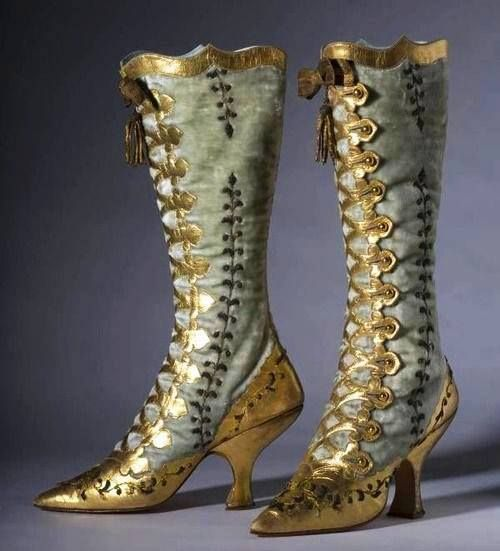 Beautiful button Boots, French, 1870...