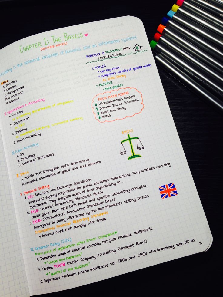 aspiringactuary:  / 07.06.15 / Copying accounting lecture notes in to my new notebook!
