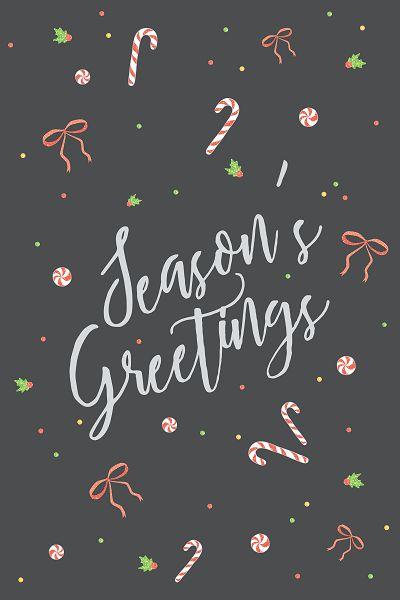 season's greeting card - christmas holiday postcard