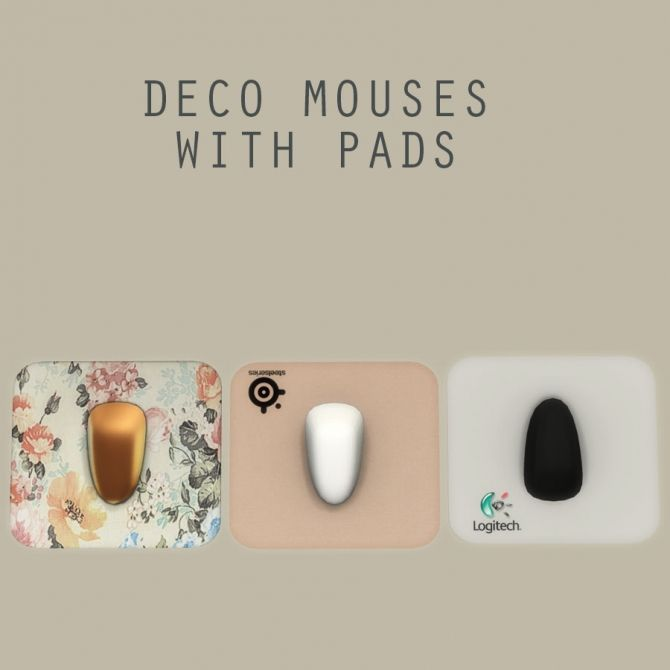 Deco Mouse With Pad at Leo Sims • Sims 4 Updates
