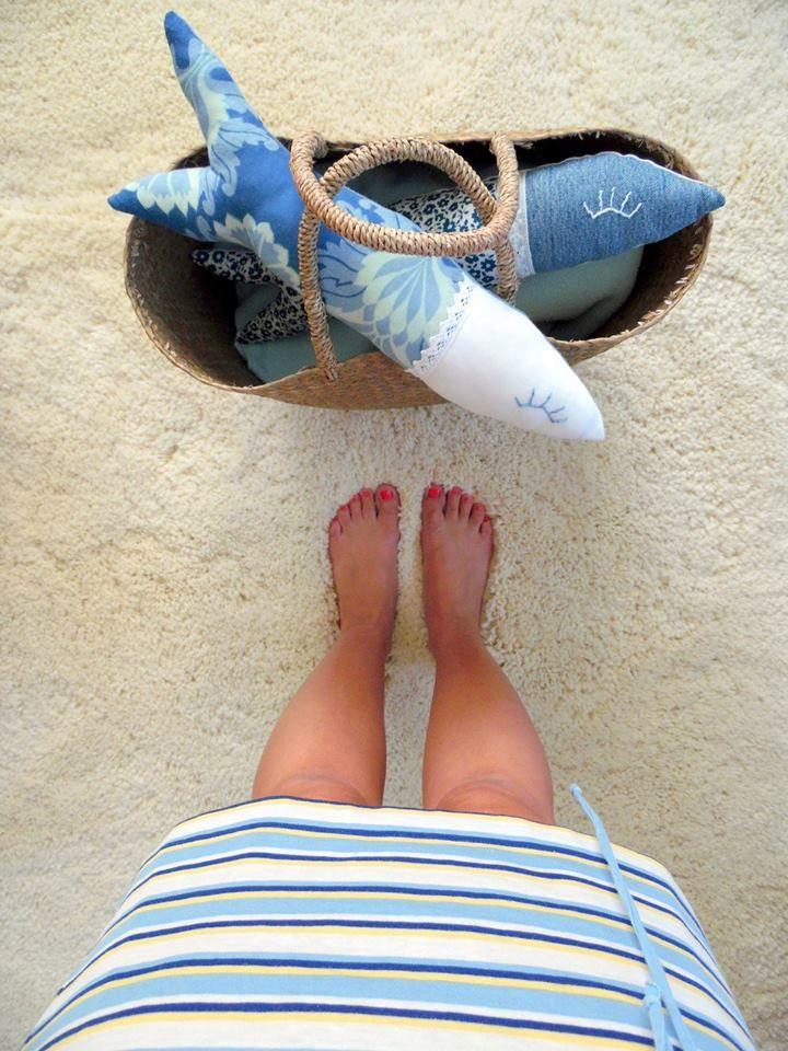 Nyár, homok, halak, varrtam.....Summer, sand, fish, sew .....