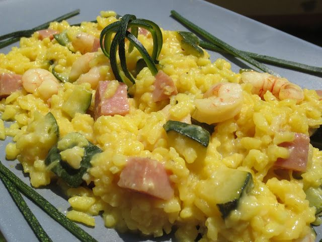 Risotto de calabac n y gambas con thermomix thermomix pasta y arroz pinterest risotto and - Risotto tomate thermomix ...