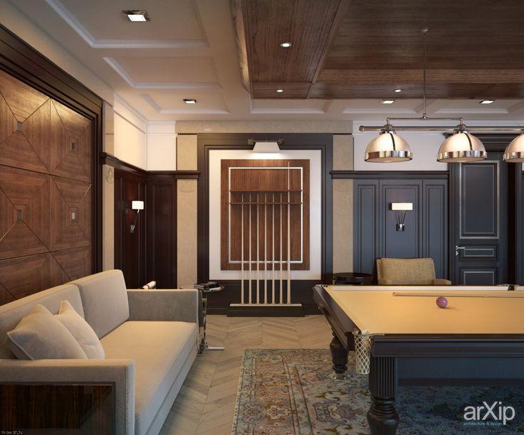 Фото Особняк в Ярославле. - интерьеры, квартира, дом, неоклассика, бильярдная, 50 - 80 м2