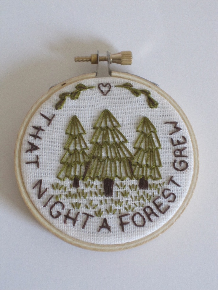 That Night A Forest Grew Embroidery. $25.00, via Etsy.