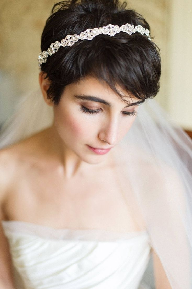 Pixie bride hairstyles with veil google search collections