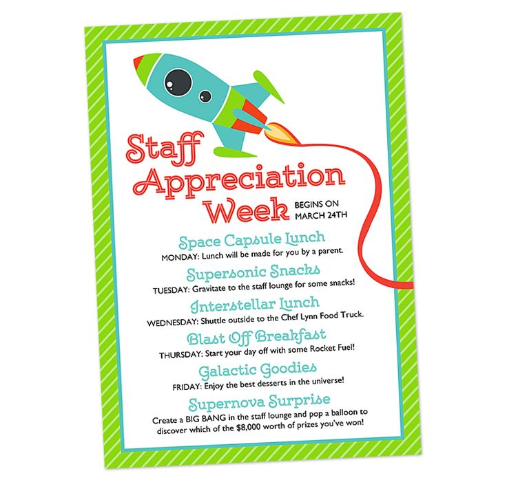 Space Themed Staff Appreciation Week Invitation