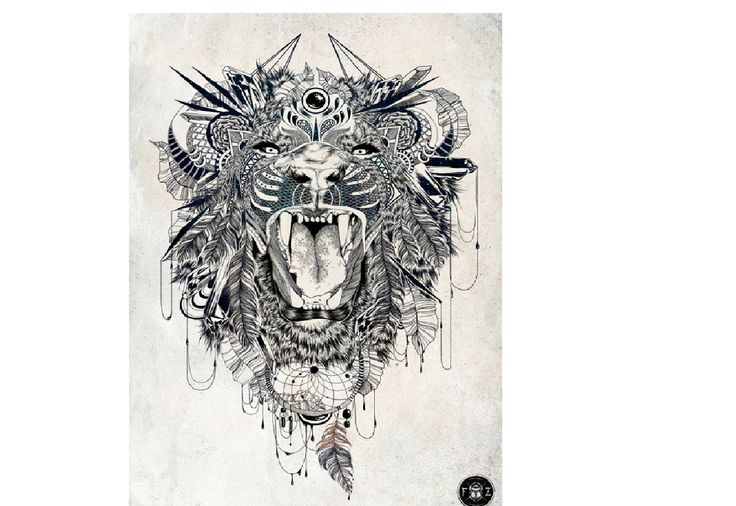 Feathered Lion Tangle | Zentangle animals | Pinterest ...