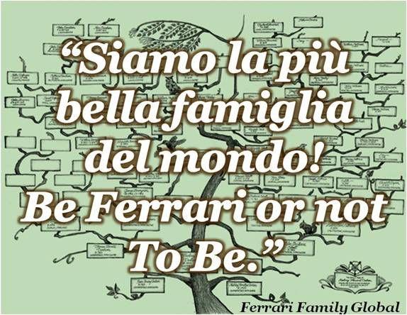 Uma pessoa realmente orgulhosa da Grande Familia Ferrari mencionada aqui #FerrariFamilyquotes #FFquotes Descubra mais