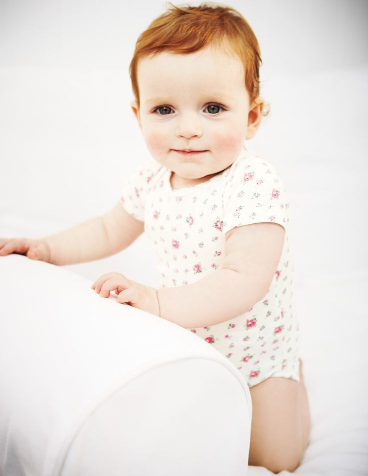 Oh to have a red headed baby, so cute. 5 Pack Summer Onesies | Boden
