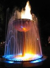 the flaming fountain at Pat O'Briens in NOLA.  I LOVE the patio there....almost as much as I love the hurricanes!