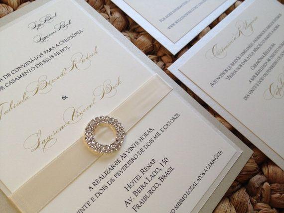 Elegant Wedding Invitation Classic Wedding By Decadentdesigns, $6.50