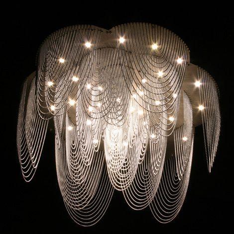 Love this modern chandelier