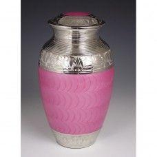 Iced Pink Cremation Urn