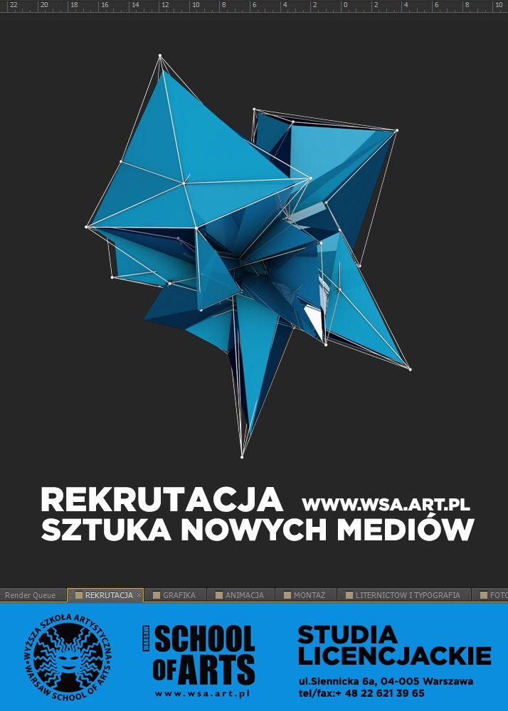 Plakat promujący Sztukę Nowych Mediów w WSA www.wsa.art.pl