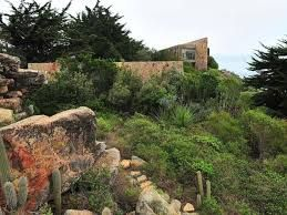 This is the house and garden of the Chilean landscape architect/garden designer, Juan Grimm, at Bahia Azul in Chile.  A stunning house in a stunning location overlooking the Pacific.