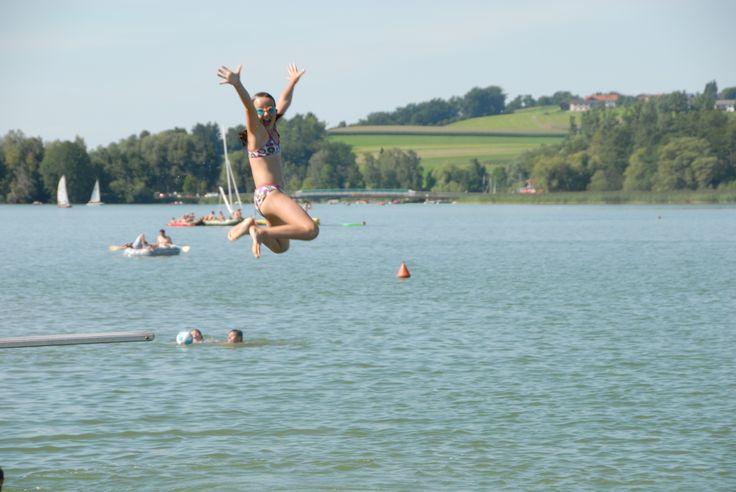 Strandcamping Waging am See Duitsland augustus 2012