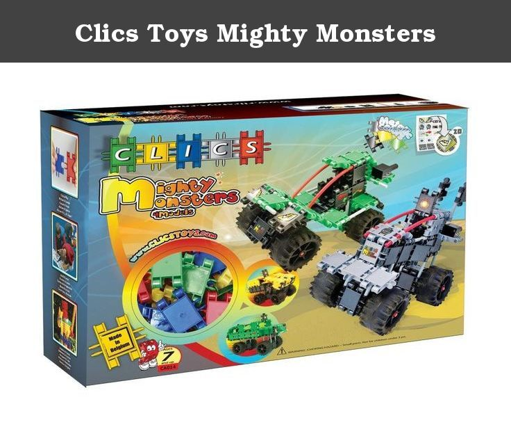 Clics Toys Mighty Monsters. CA014 Features: -Mighty