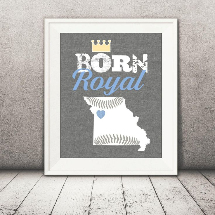 Kansas City Royals Baby Print - Royals Print - Baby Baseball Printable File - Boy by CreativeKittle on Etsy