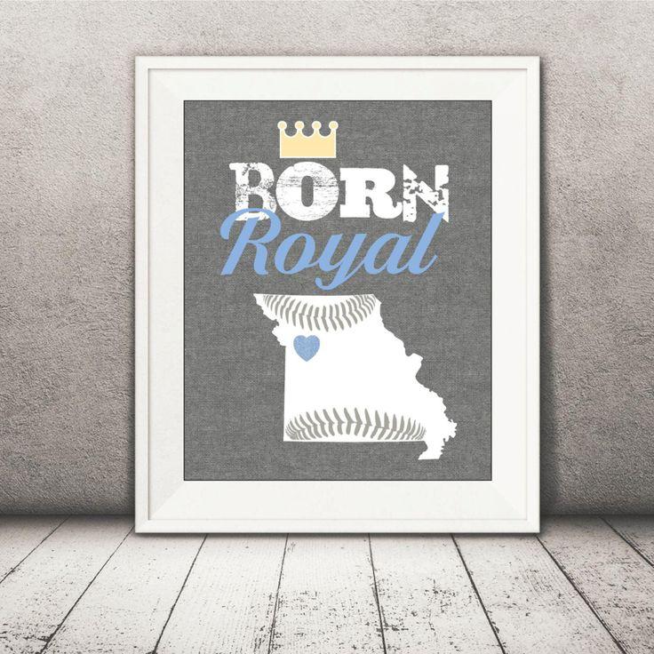Kansas City Royals Baby Print - Royals Print - Baby Baseball Printable File - Boy by CreativeKittle on Etsy