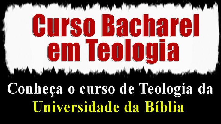 Curso de Teologia a Distancia Online - Bacharel - Universidade da Bíblia