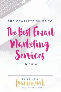 Find the best email marketing service for your blog or online business in 2016! We'll show you why our favorite options are ConvertKit, MailChimp, Autopilot, and Active Campaign. Click through to the post to read more!