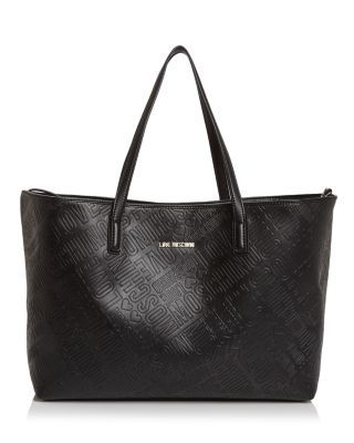 Love Moschino Embossed Logo Leather Tote | bloomingdales ...