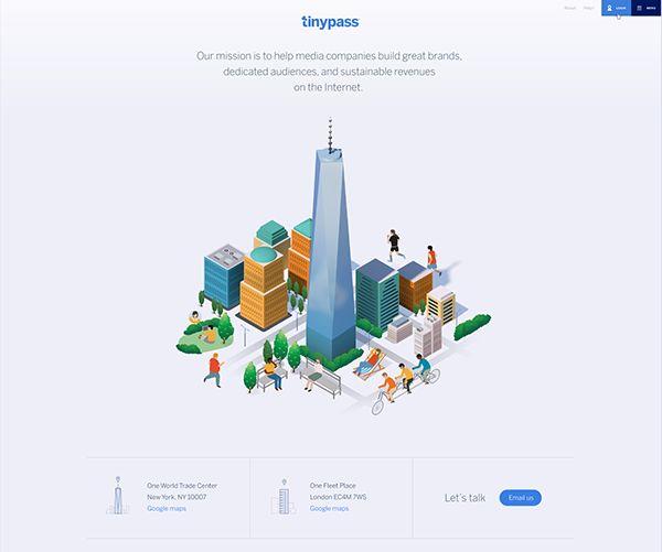 Tinypass illustrations on Behance