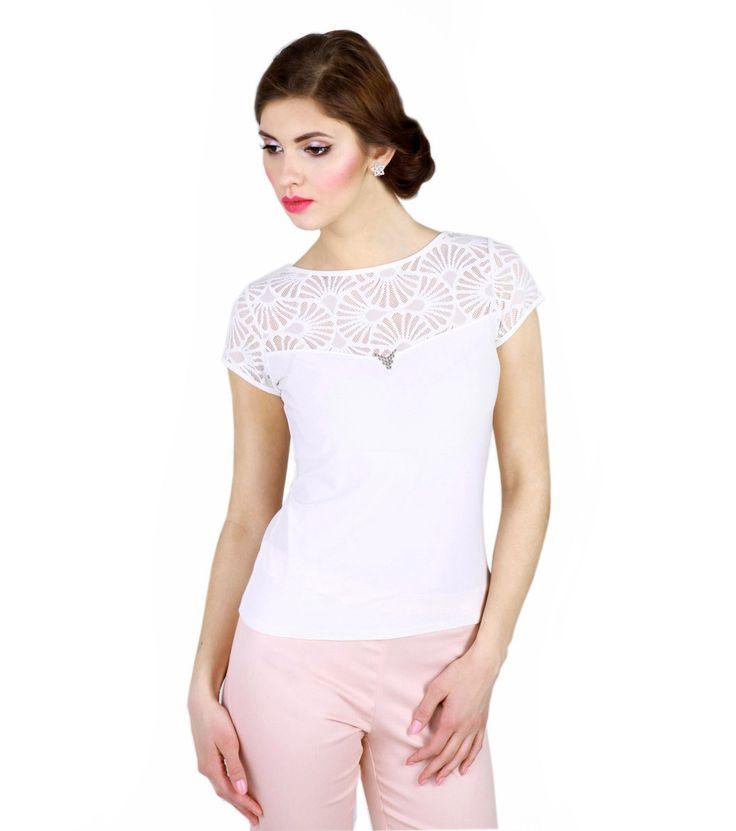FashionSupreme - Tricou Scarlet în nuanță ecru Kora - Haine de damă - Tricouri - Lichidare de stoc - tricouri pentru doamne. Haine şi accesorii de marcă. Haine de designer.