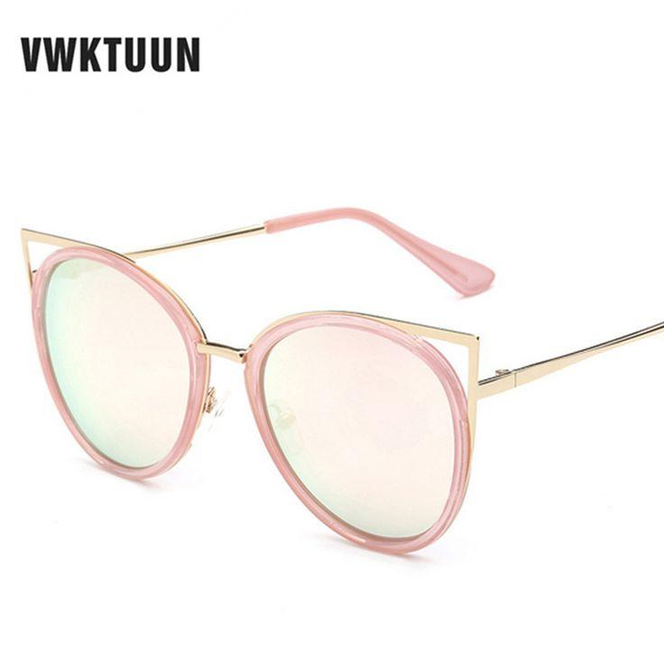 VWKTUUN Steampunk Olho de Gato Óculos De Sol Das Mulheres Marca Designer UV400 Óculos de Sol Feminino Óculos de Sol Da Lente do Espelho Esporte Ao Ar Livre(China (Mainland))
