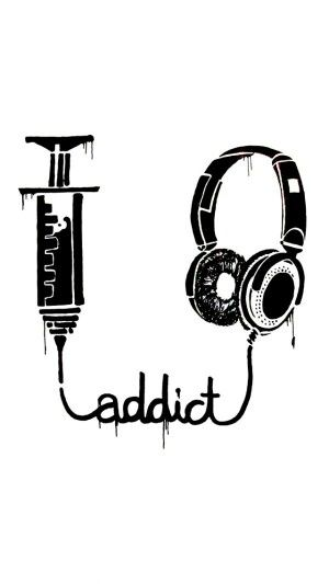 #Music #addict #LetsGetWordy #headphones #syringe